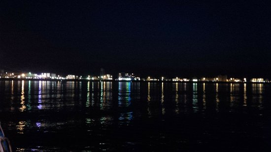 Seabrook, NH: night time looking on to the beaxh, Hampton Beach, NH