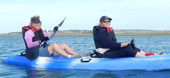 Milford on Sea, UK: Kay & Anne - having a wonderful time