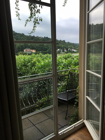 Unkel, เยอรมนี: Our balcony with view of the Rhine