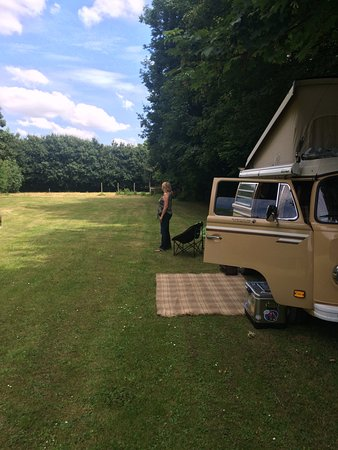 Dereham, UK: Tranquil camping field with loads of room and level pitches.