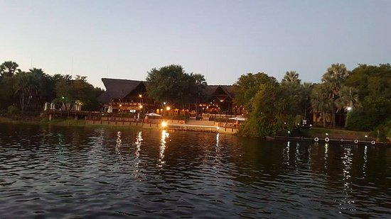 Victoria Falls Waterfront: View from the lake (David Livingstone side)
