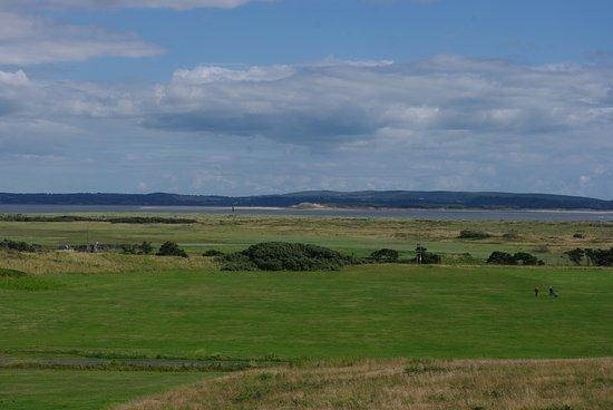 View over Pembrey Country Park, River Loughor estuary towards the Gower Peninsula