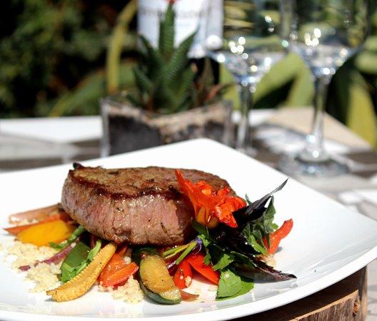 Hekpoort, Sudáfrica: Sweet Thyme Restaurant - Rump Steak