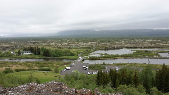 Thingvellir, ไอซ์แลนด์: Вид со смотровой площадки