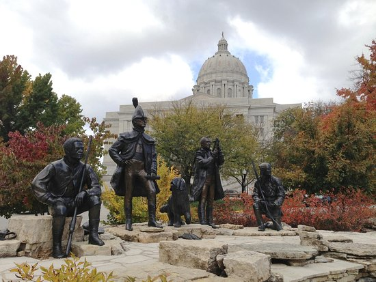Jefferson City Missouri Lewis & Clark Monument at the Lewis & Clark Trailhead Plaza