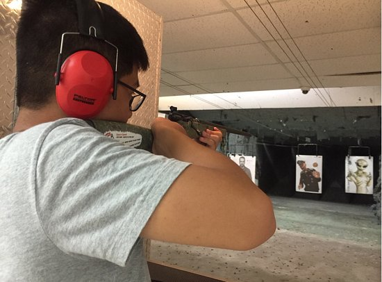 Kiffney's Firearms and Indoor Range: Rifles are not too heavy, does not have a strong recoil on the .22 caliber. Good experience