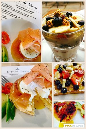 Nantwich, UK: A selection of the Café de Paris breakfast choices