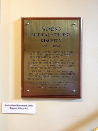 First women's medical college in Canada was located in Kingston City Hall!