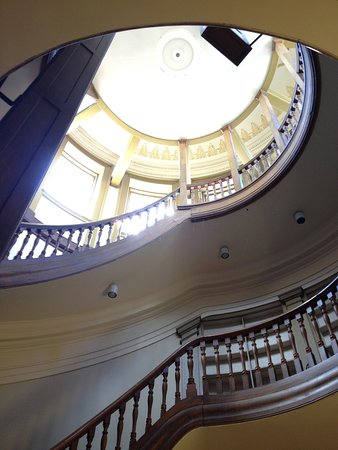 The staircase to the bell tower, Kingston City Hall.