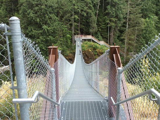 Campbell River, Canadá: The veuing bridge