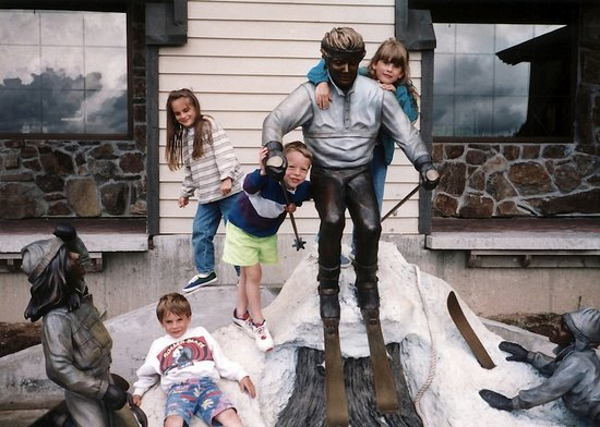 Sandpoint, ID: Fun with the kids in the Village in the summer.