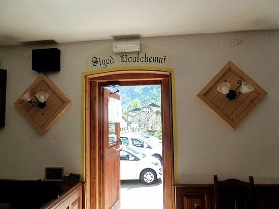 Rima San Giuseppe, Italy: Porta d'uscita ristorante