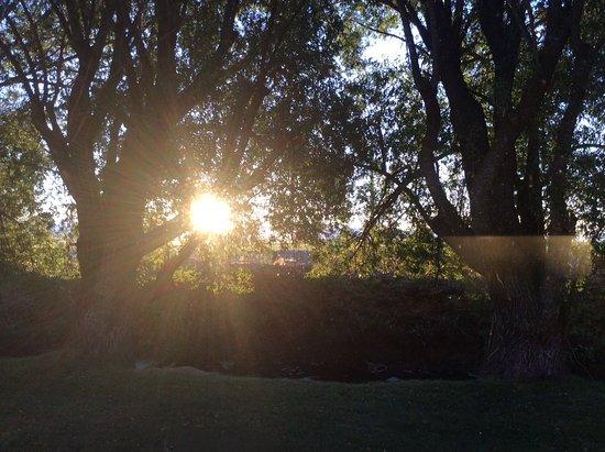 Tulelake, CA: View from kitchen window at sunrise....