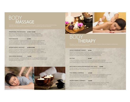 Brochure   Picture Of Nimman Massage And Spa Bangkok  Tripadvisor