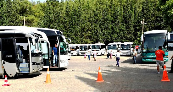 Meryemana (The Virgin Mary's House): Tour Buses Filling up Parking Lot