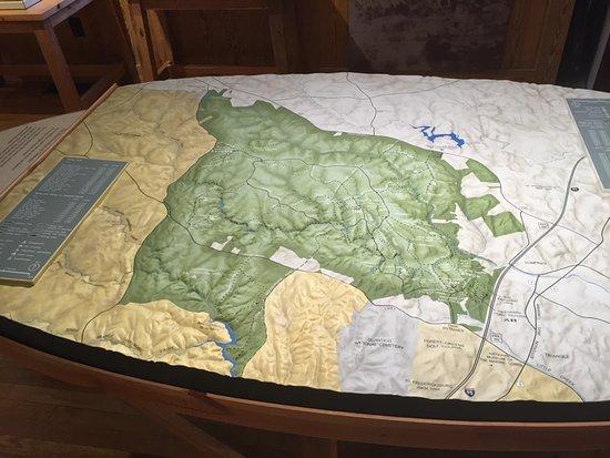 Triangle, Βιρτζίνια: Représentation en relief du parc et de ses environs