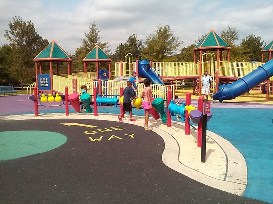 McLean, VA: The Movin and Groovin play area at Clemyjontri.