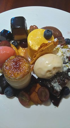 Hurworth-on-Tees, UK: a taste of every dessert on the menu. £15 of manna