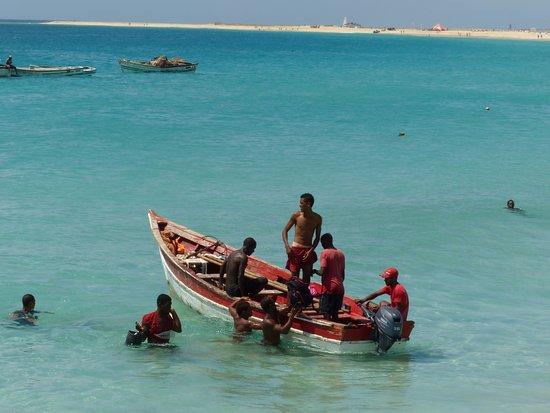 Praia de Santa Maria: rybaření