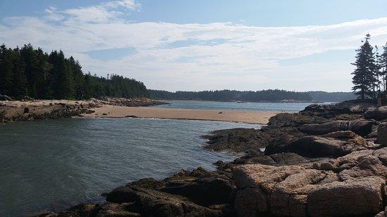 Deer Isle, Μέιν: Sand bar from Barred Island