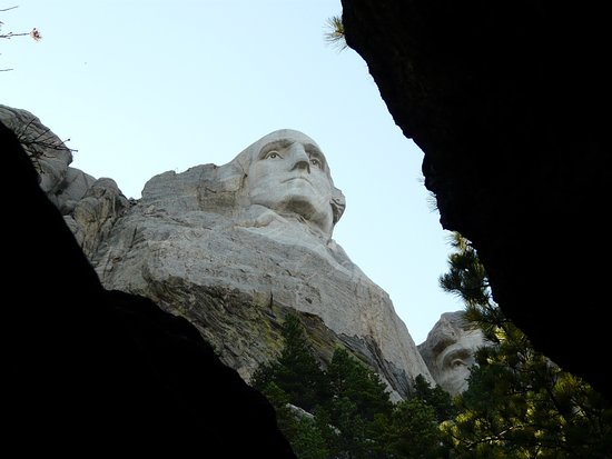 Mount Rushmore National Memorial Walking trail along the base of the monument. & Shot of the night time lighting ceremony. - Picture of Mount ... azcodes.com