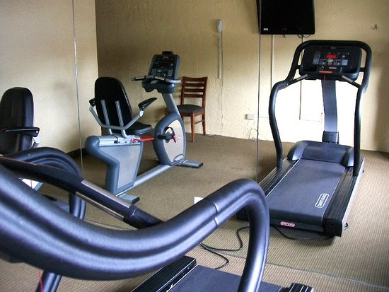 Elk Grove Village, IL: exercise room, right next to laundry area, has 2 better-than-basic machines