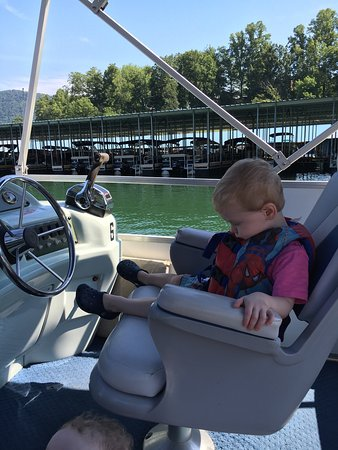 Watauga Lake: Dalton,Jackson and Brian staying cool