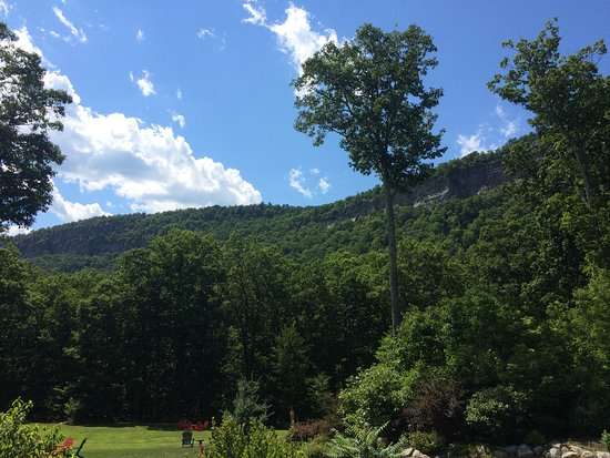 Gardiner, NY: The height of a summer afternoon, view from our deck (Rm225)
