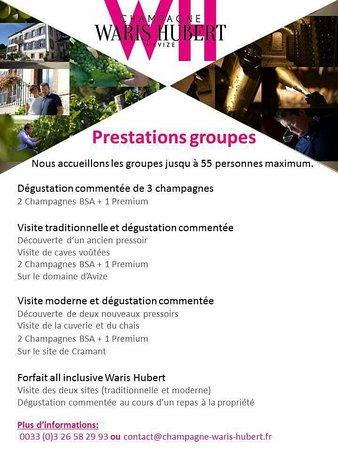Avize, Francja: Réception groupes