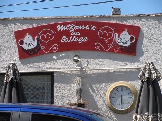 Seal Beach, CA: Outside signage for McKenna's Tea Cottage