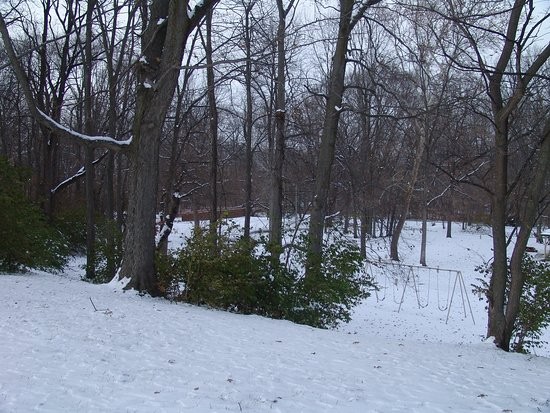 Brownsburg, IN: In the winter the park offers a winter beauty seldom found within a city limits.