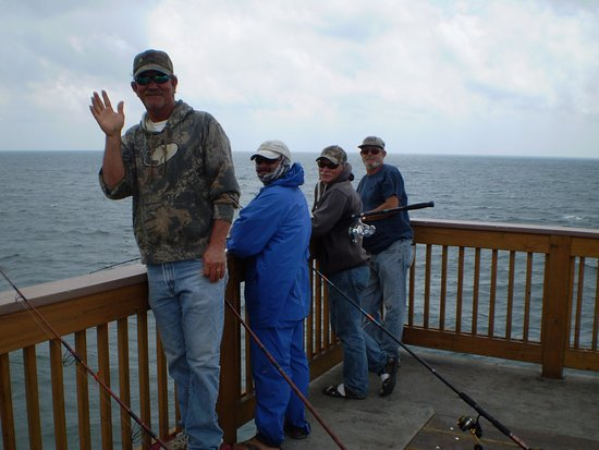 M B Miller County Pier Cobia Ling Fishermen Sight Fishing For This Species Of Fish