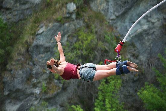 George, Zuid-Afrika: Bloukrans Bungee Jumping!  Highest bungee bridge in the world!