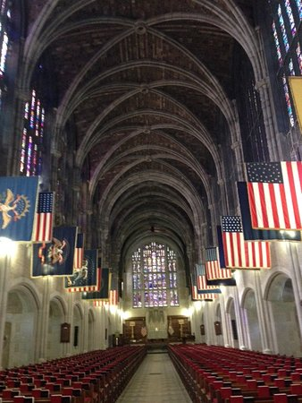 Highland Falls, NY: Chapel, regimental flags