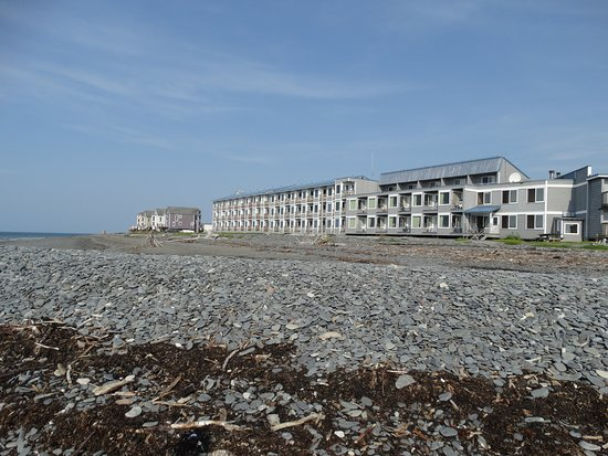 Land's End Resort: The Land's End Motel from the beach