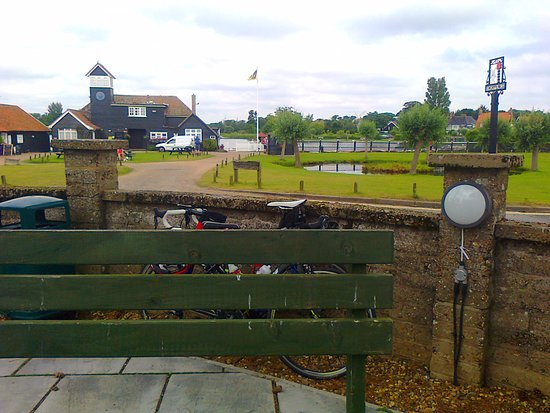 Thorpeness, UK: View from café terrace