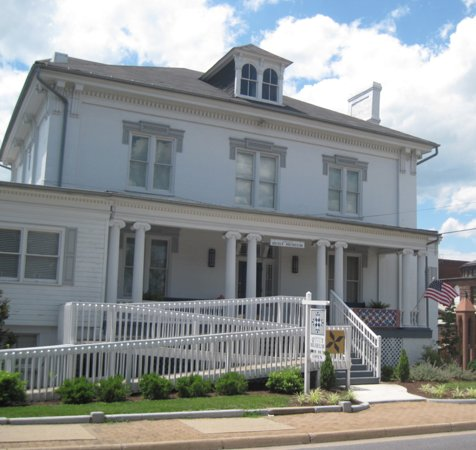 The Virginia Quilt Museum is located in downtown Harrisonburg, Virginia in the Warren Sipe House