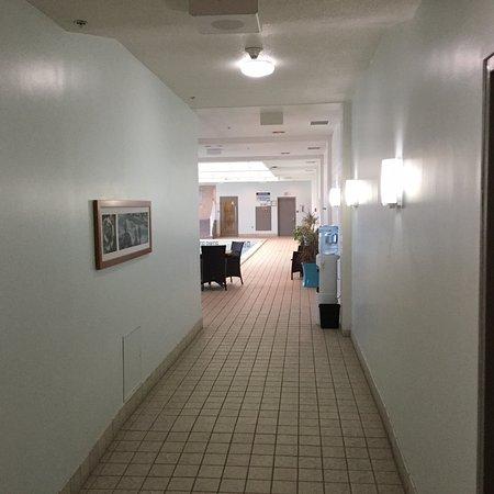Hallway leading to the Pool