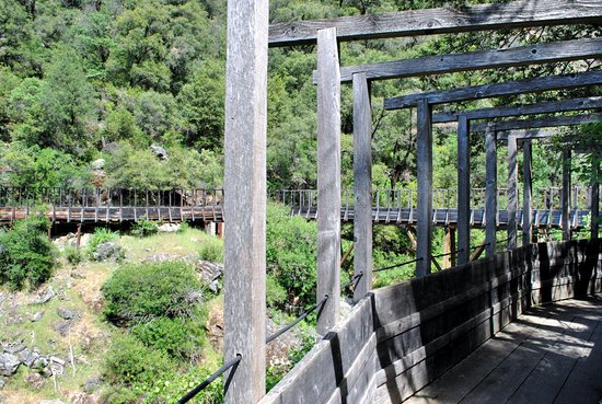 Nevada City, CA: the longest 'flume' bridge on the Independence Trail