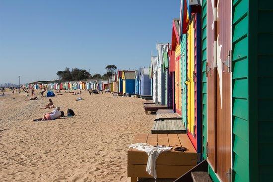 Brighton, Australien: Bathing Boxes
