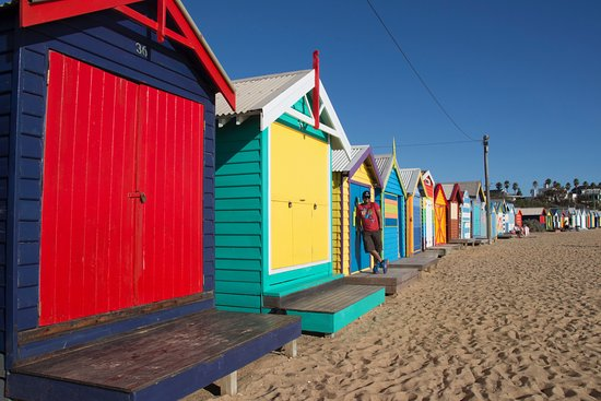 Brighton, Australien: Bathing Boxes 3