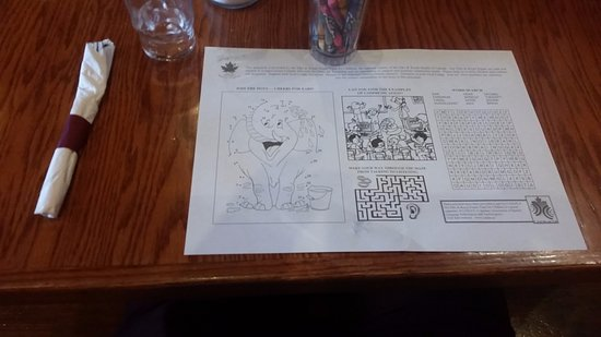 Yavis Family Restaurant: coloring if you get bored