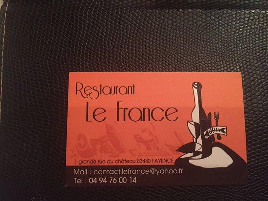 Fayence, France : Kaartje