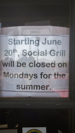 Irmo, SC: Social Grill, Chapin, South Carolina, July 2016