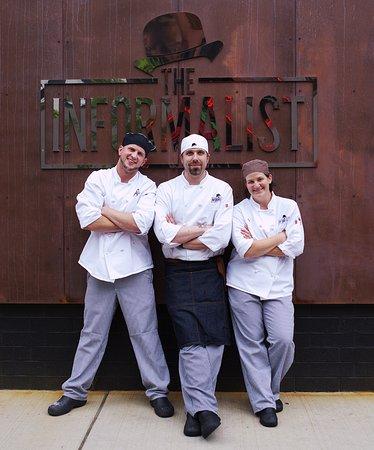 "Eau Claire, WI: Sous Chef Brandon ""Jobin"" Montney, Executive Chef Luke Bilda, Sous Chef Amy Huo"