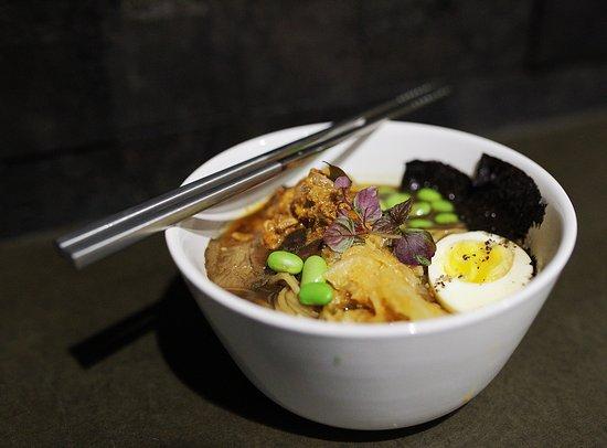 Eau Claire, Ουισκόνσιν: Pork Ramen - together farms pork, kimchi, egg, shiitake