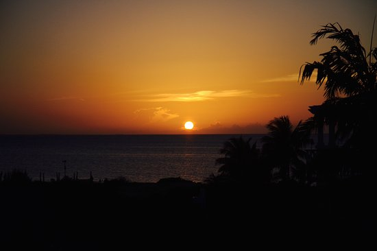 Royal West Indies Resort: Sunset from deck of ocean view room