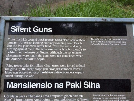 Piti, Mariana Islands: one of the descriptive signs at the site
