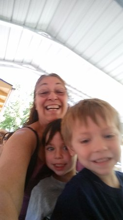 Medford Railroad Park: Enjoying the steam engine ride throughout the park with my grandchildren