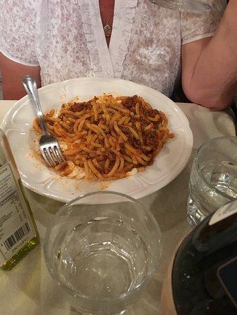 Duomo View B&B: Spaghetti at Gianninos restaurant